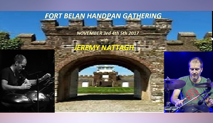 concert Handpan Weekend with Jeremy Nattagh multiman Fort Belan Caernarfon